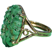 Vintage Carved Jade Ring