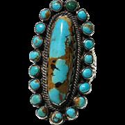Vintage Kingman Turquoise Cluster Ring
