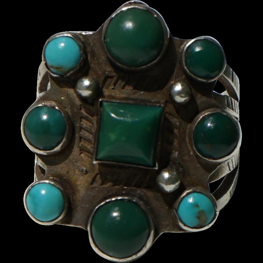 Vintage Cerrillos Turquoise Ring From Uchizonogallery On
