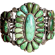 Early Turquoise Cluster Bracelet