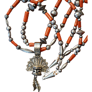 Kachina Pendant Coral Necklace