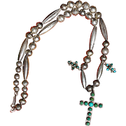Cross Pendant Necklace With Bench Made Beads
