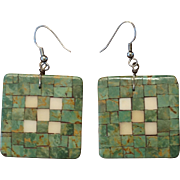 Santo Domingo Pueblo Inlaid Earrings