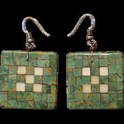 Santo Domingo Pueblo Inlaid Earrings