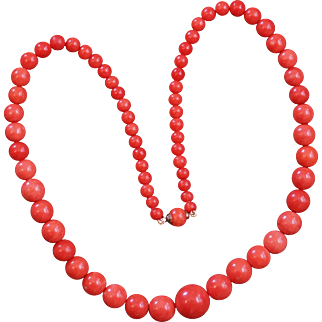 Victorian Coral Necklace