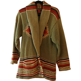 Ralph Lauren Hand Knit Southwest Style Sweater