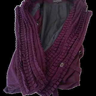 Ann Demeulemeester Wool Ruffled Vest