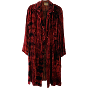 Tie-Dyed Silk Velvet Coat