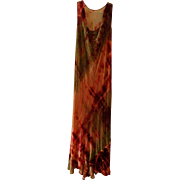 Vintage Silk Velvet Tie-Dyed Dress