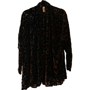 Silk Velvet Burnout Jacket