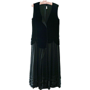 Comme des Garcons Black Velvet Dress