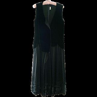 Comme des Garcons Black Velvet Dress