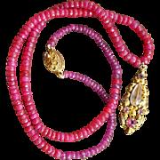 Georgian Paste Earring Pendant Ruby Necklace