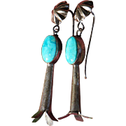 Vintage Squash Blossom Earrings