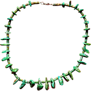 Early Cerrillos Turquoise Cluster Necklace
