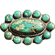 Vintage Cerrillos Turquoise Pin