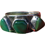 Early Cerrillos Turquoise Ring