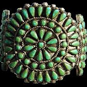 Kings Manassa Turquoise Zuni Cluster Bracelet