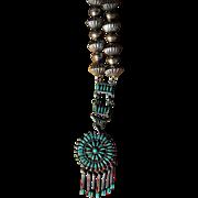 Vintage Zuni Pendant Necklace