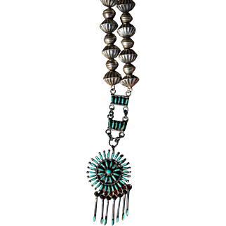 Vintage Zuni Pendant Necklace