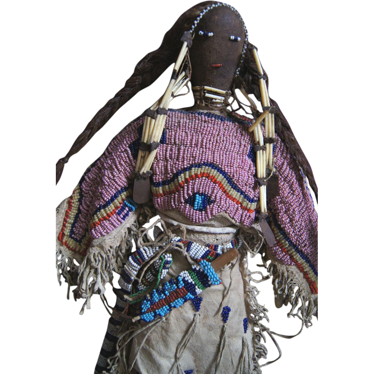 Lakota Beaded And Quilled Doll 1880 1890 From
