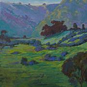 Portuguese Bend Landscape Painting By Rachel Uchizono