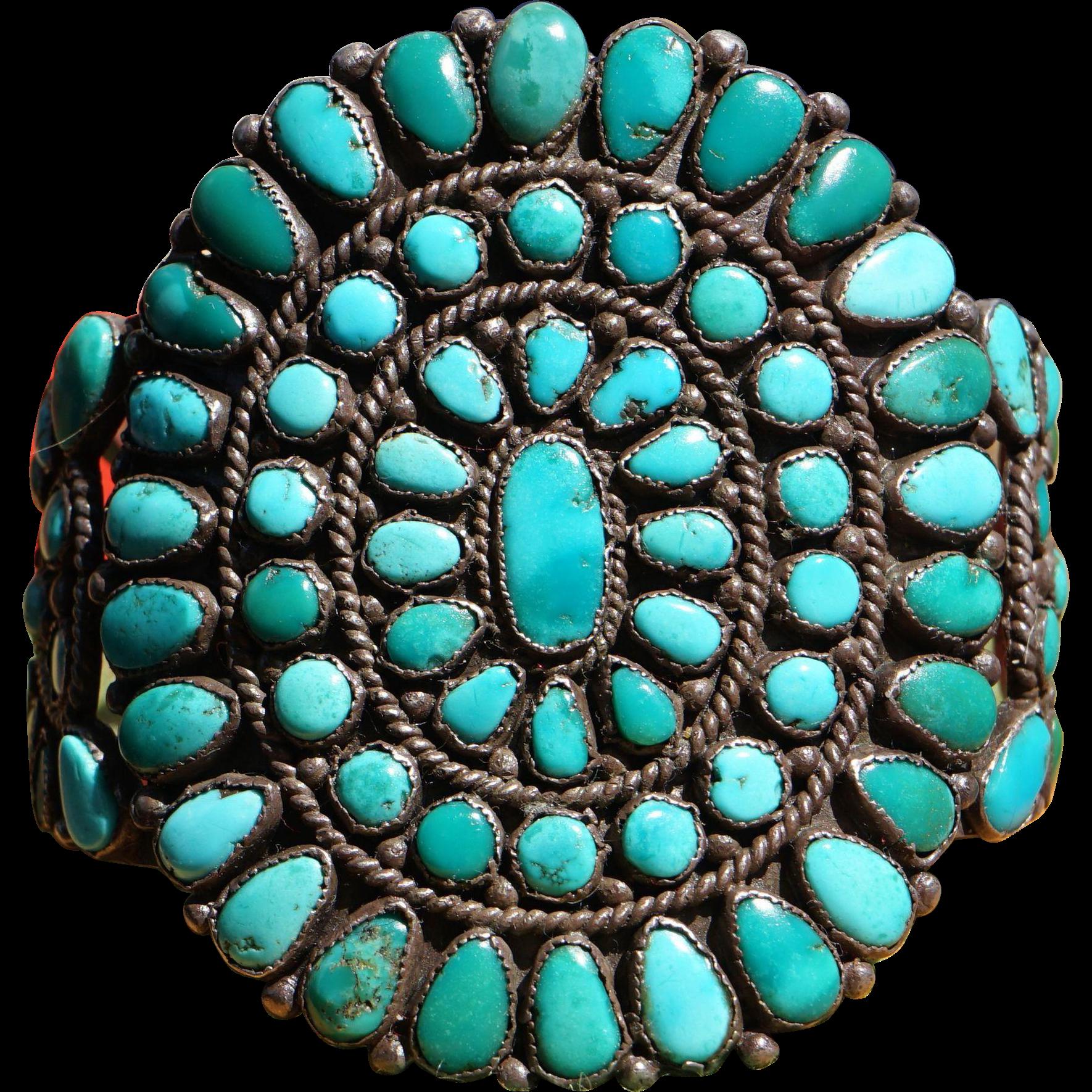 Huge Navajo Cluster Bracelet