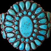 Blue Gem Navajo Cluster Bracelet