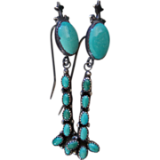 Vintage Native American Turquoise Earrings