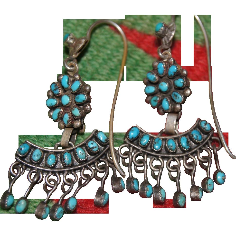 Zuni Earrings: Zuni Chandelier Earrings From Uchizonogallery On Ruby Lane