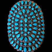 Vintage Zuni Morenci Turquoise  Cluster Bracelet