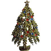 ART Signed Enameled Christmas Tree Pin ~ Book Piece