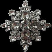 Weiss – Weissco 1950's Snowflake Rhinestone Brooch
