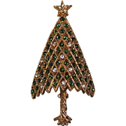 Corocraft Twisted Trunk Green/Clear 3D Convex Christmas Tree Pin ~ Book Piece