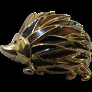 1960's Hedghog Figural Enameled Pin