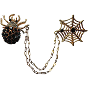 Corocraft 1960's Spider and Web Chatelaine Scatter Pins