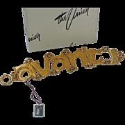Castlecliff 1960's Italian Avanti Word Bracelet