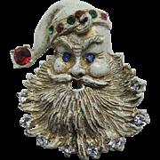 1930's Santa Claus Face Brooch