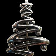 RARE Hand & Hammer Sterling Silver Christmas Tree Pin