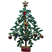 RARE Sandor signed Christmas tree Pin ~ Book Piece