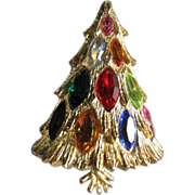 Corocraft Light Up Marquis Stone 3D Christmas Tree Pin ~ Book Piece