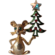 RARE Tancer II Mouse Christmas Tree Pin, Book Piece