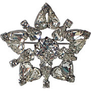 RARE Christian Dior by Kramer of NY Star Snowflake Brooch