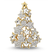 RAREST Swarsovski 1996 Limited Edition Star Crystal Christmas Tree Pin ~ Book Piece