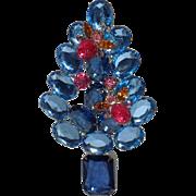 Blue Bee Christmas Tree Pin