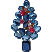 Blue Bee Christmas Tree Pin