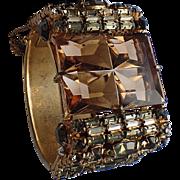 Alice Caviness Black Diamond & Glass Cuff Bracelet, Book Piece