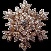 Snowflake Crystal Sterling Pin/Pendant