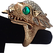 SCARCE Trifari 1969 Something Wild Dragon Watch Ring