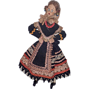 1940's Spanish Klumpe Woman Traditional Costume Doll